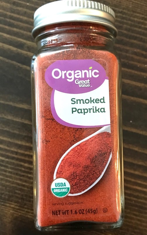 Jar of smoked paprika