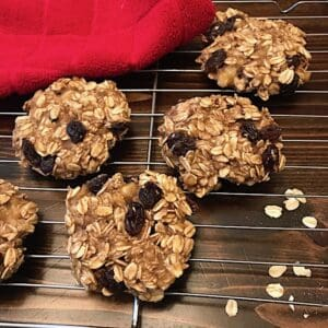 Breakfast cookies on a cooling rack