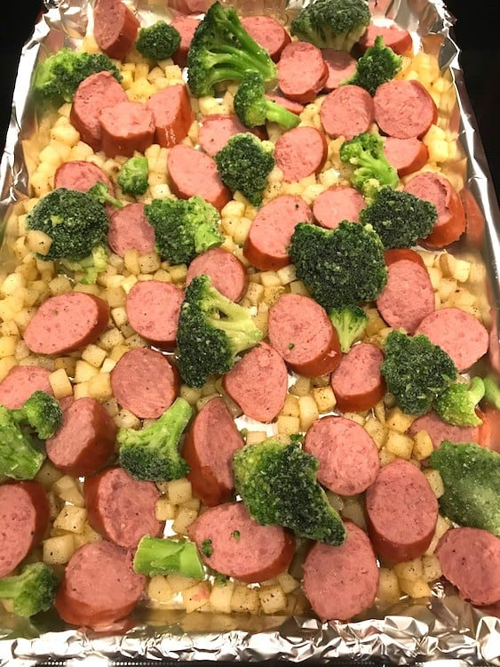 Sausage potato bake without the cheese