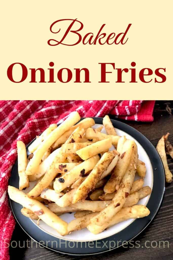 Plate of onion baked fried potatoes