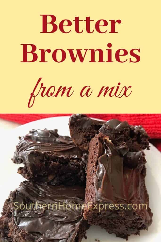 Plate of 4 brownies