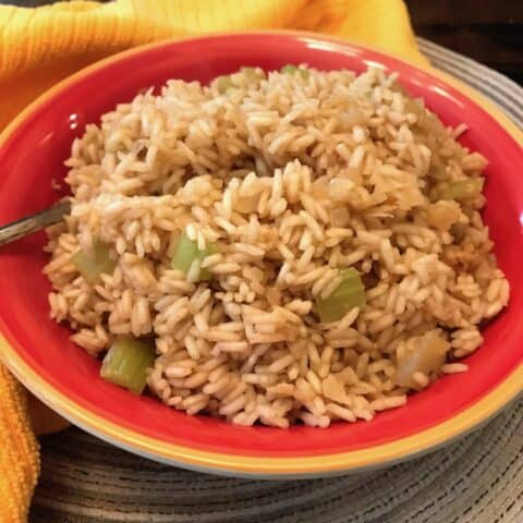 Bowl of onion seasoned rice