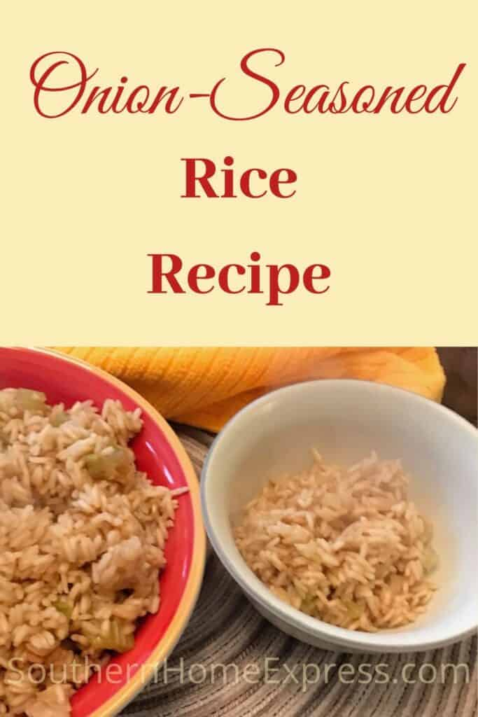 2 bowls of onion-seasoned rice