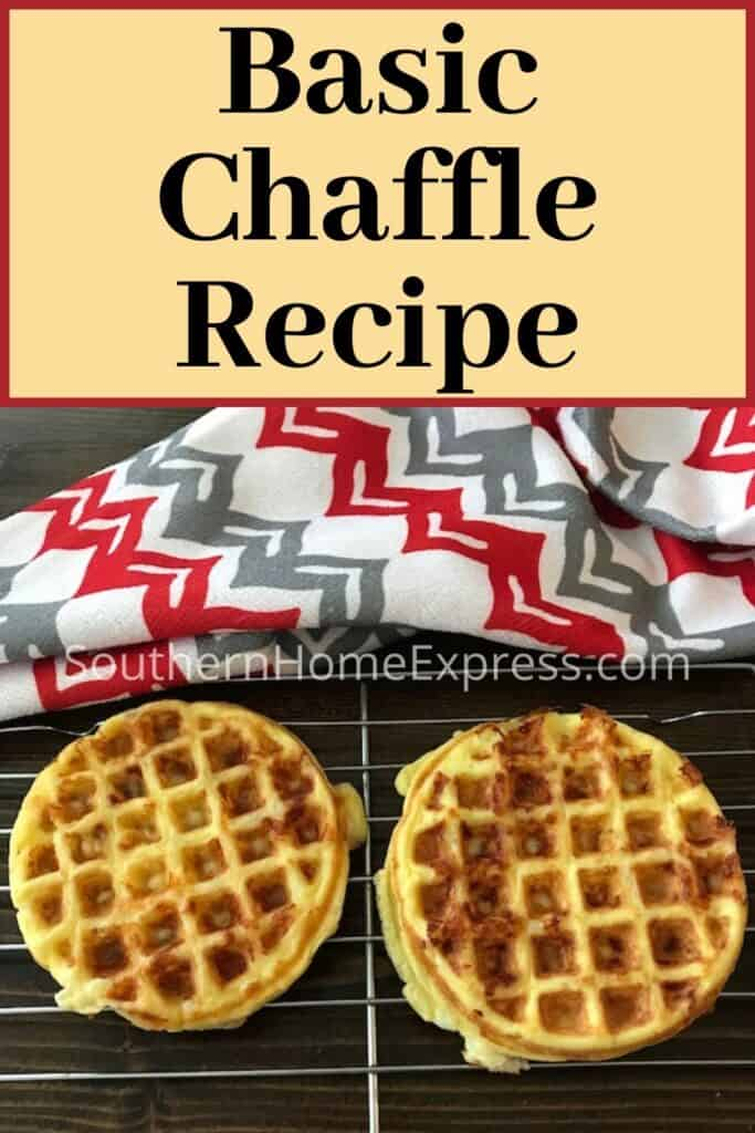 Basic chaffle on a cooling rack