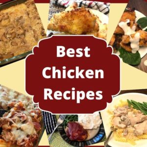 Variety of chicken dishes