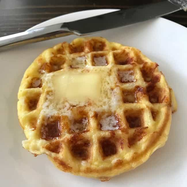 Chaffle with butter