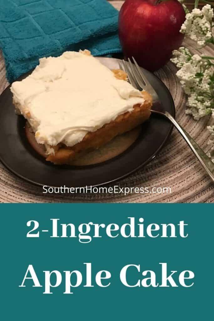 2-ingredient apple cake