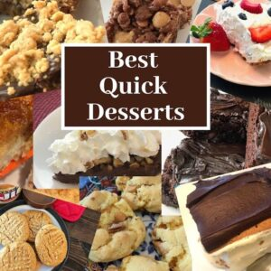 Variety of cookies, dessert bars, pies, and cakes