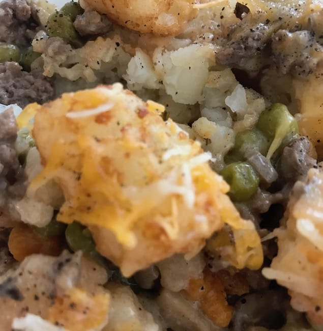This hamburger tater tot casserole is easy to make, and it's a dinner that will please the whole family.