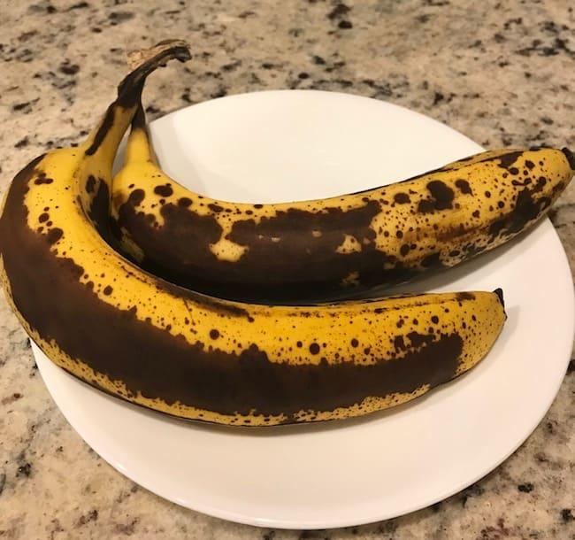 2 extra ripe bananas