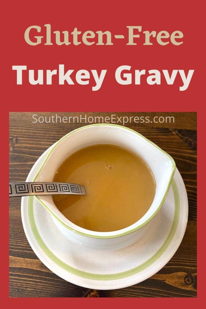 Bowl of gluten-free turkey gravy