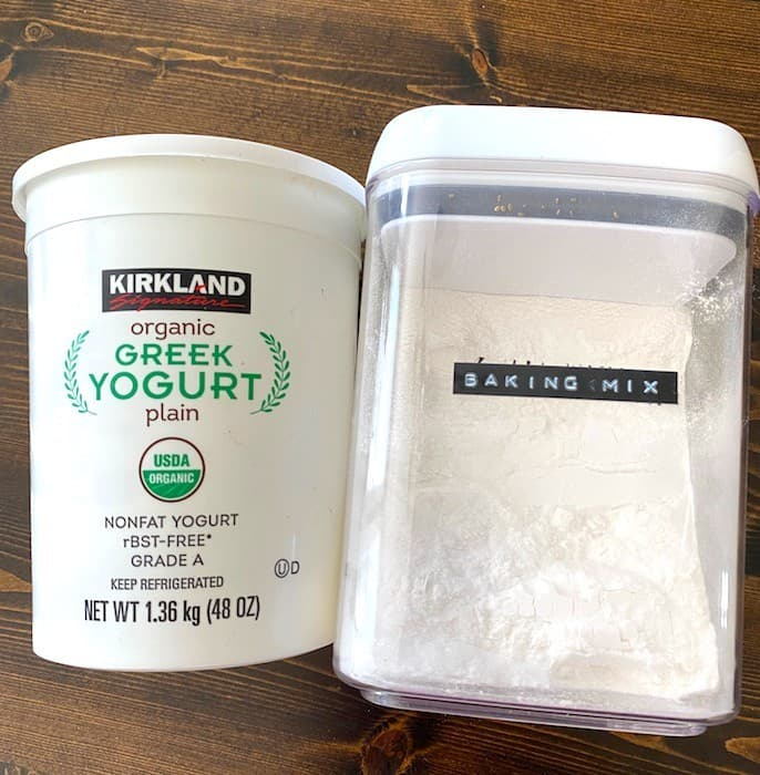Greek yogurt and baking mix