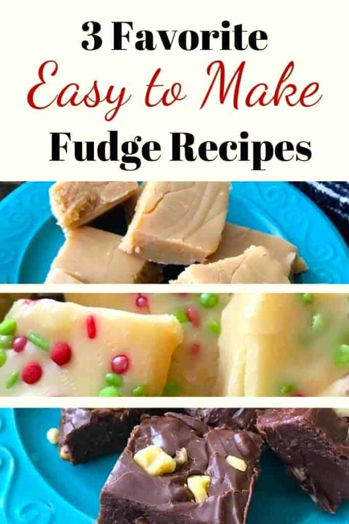 3 favorite easy-to-make fudge recipes