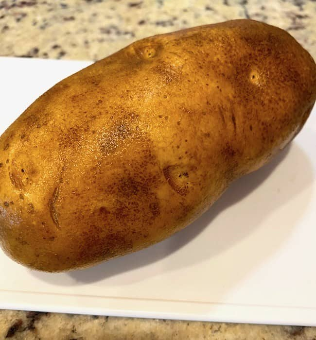 Cold potato right out of the refrigerator