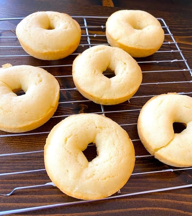 Donuts on a baking rack