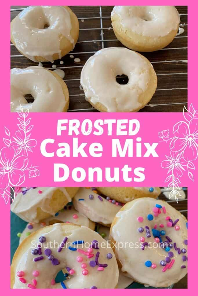 Donuts with frosting and multi-colored sprinkles