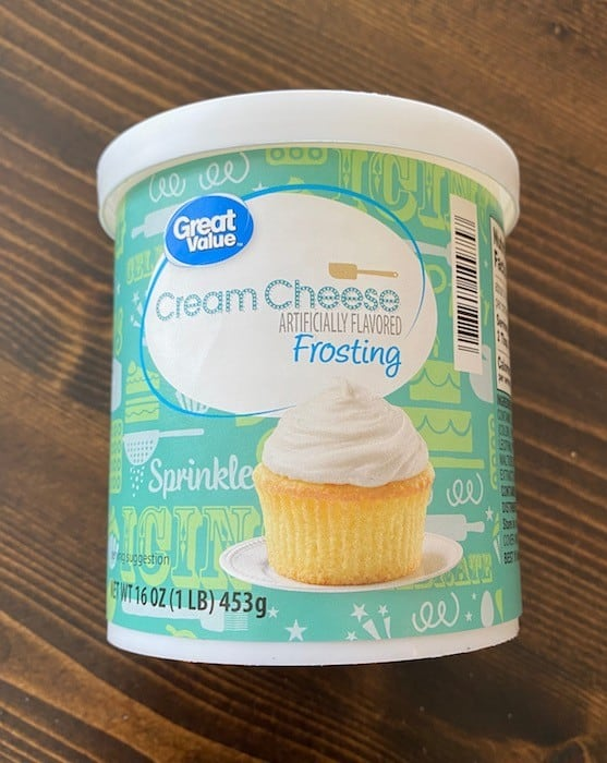 Ready-made cream cheese frosting