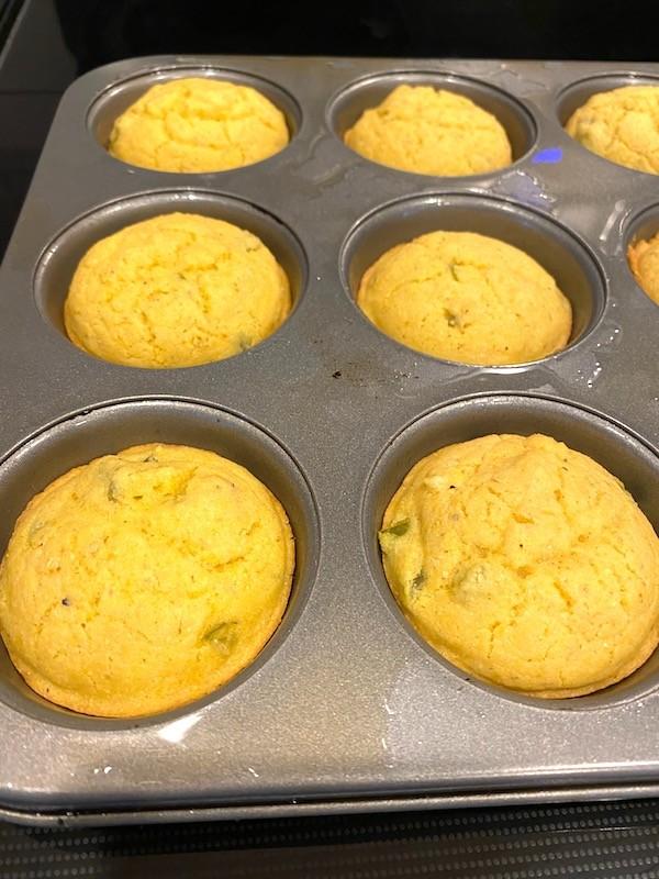 Baked jalapeno corn muffins