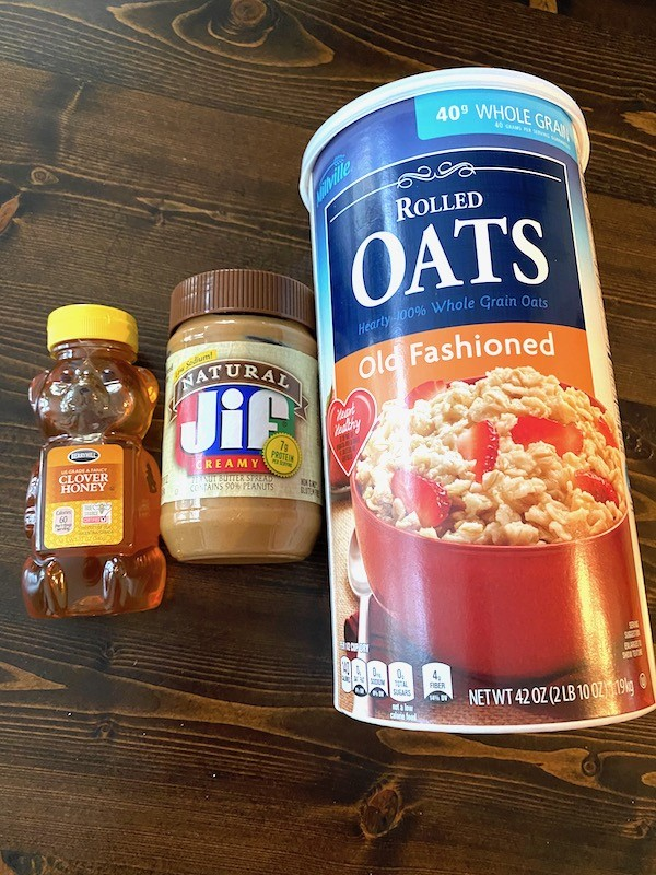 Honey, peanut butter, and oatmeal
