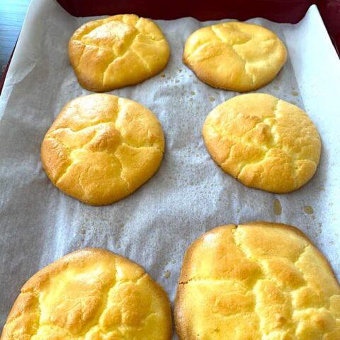Pan of cloud bread
