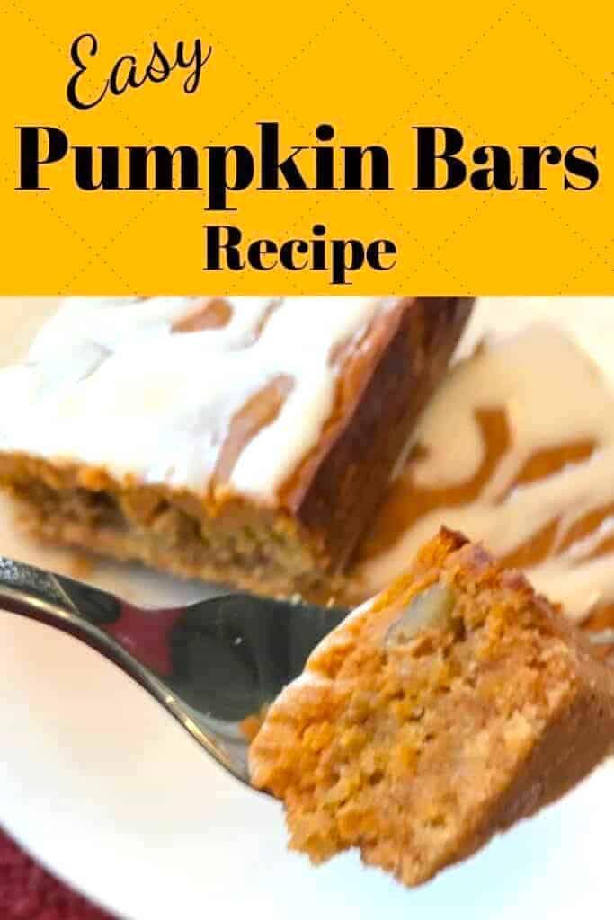 Pumpkin bars on a plate