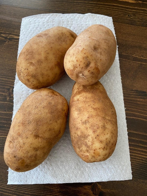 4 baking potatoes