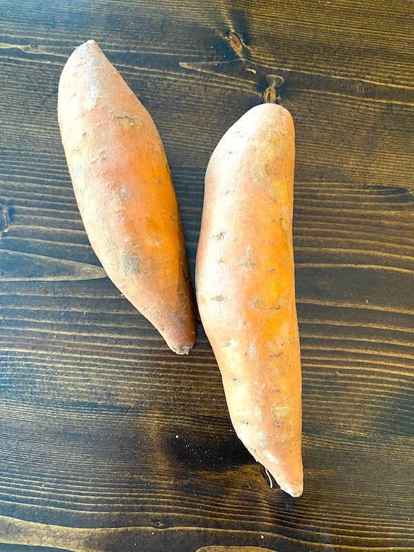 2 raw sweet potatoes