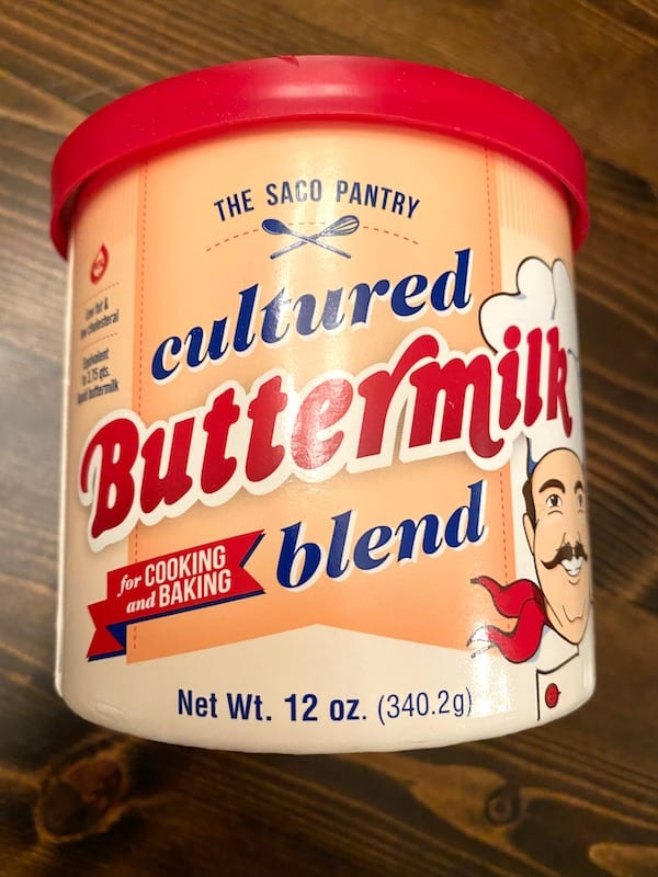Container of buttermilk mix