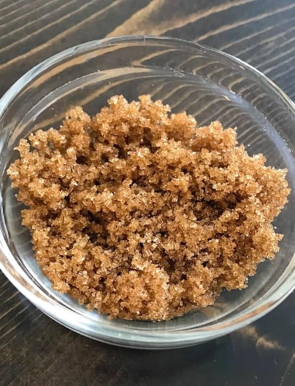 Small glass bowl of brown sugar