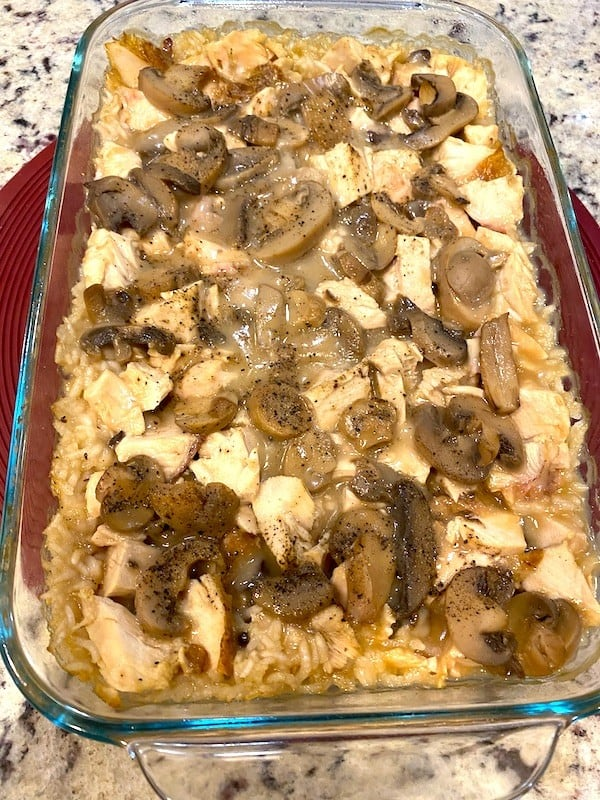 Baked chicken and rice casserole