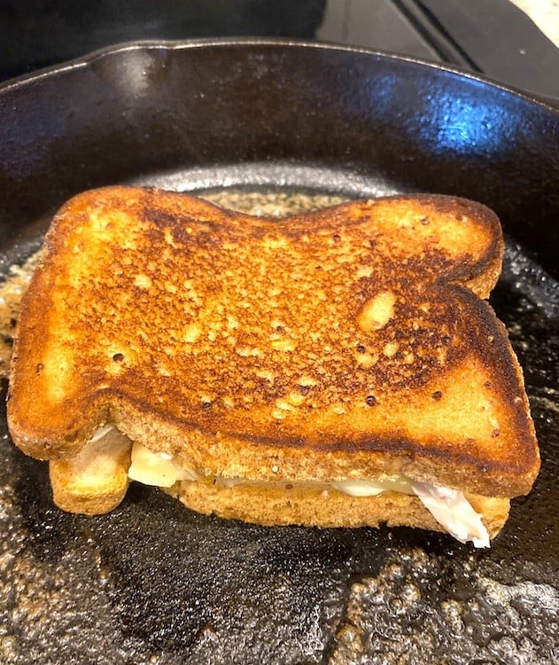best turkey sandwich in a skillet