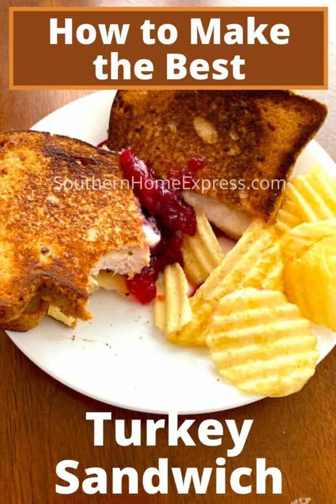 best turkey sandwich on a plate with potato chips