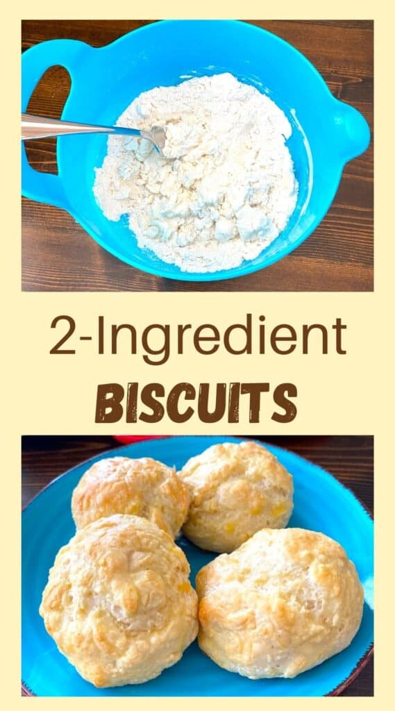 bowl of flour and plate of biscuits