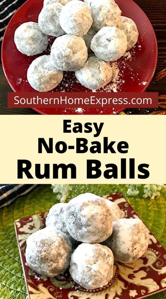 Plates of rum balls