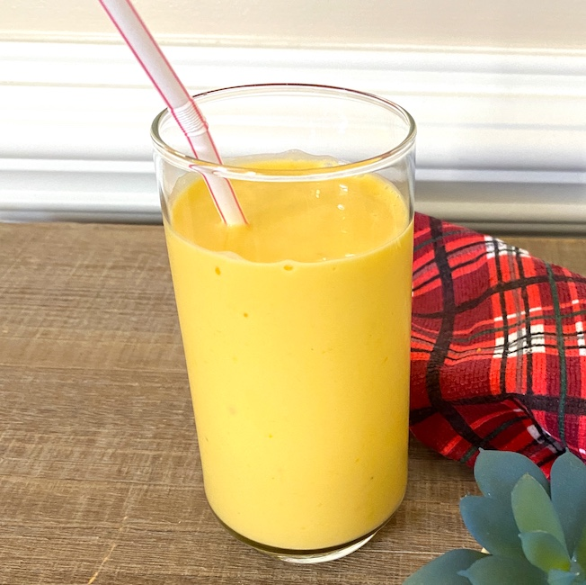 mango smoothie in a glass