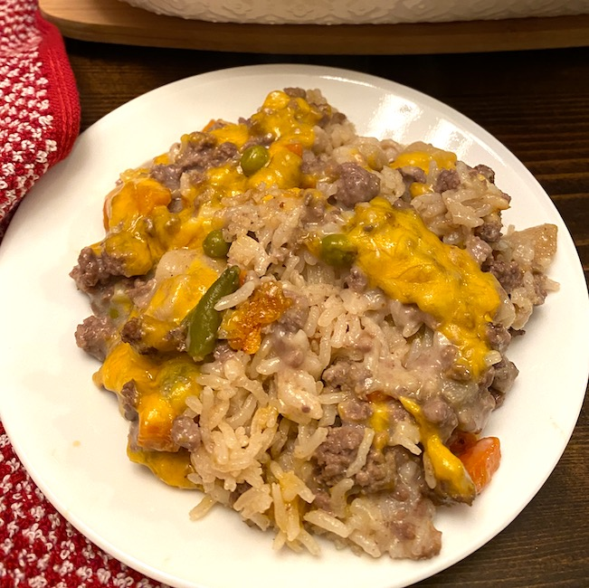 serving of beef shop-the-pantry casserole