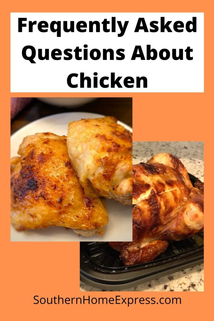 frequently asked questions about chicken recommended pin for Pinterest