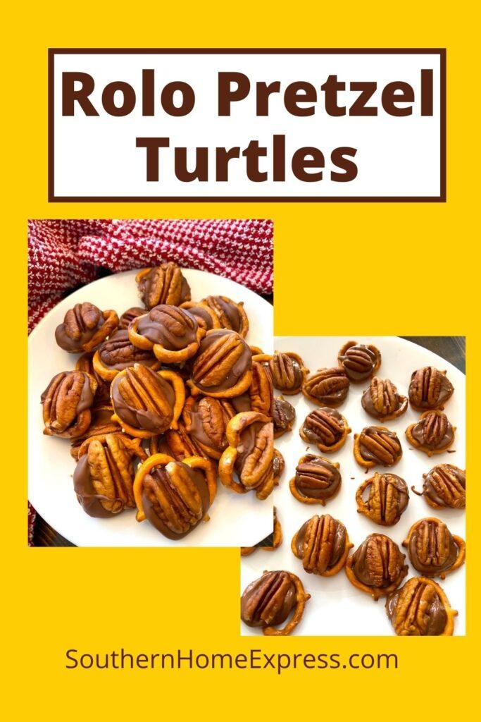 2 plates of Rolo pretzel Turtles