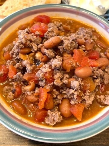 bowl of rotel chili