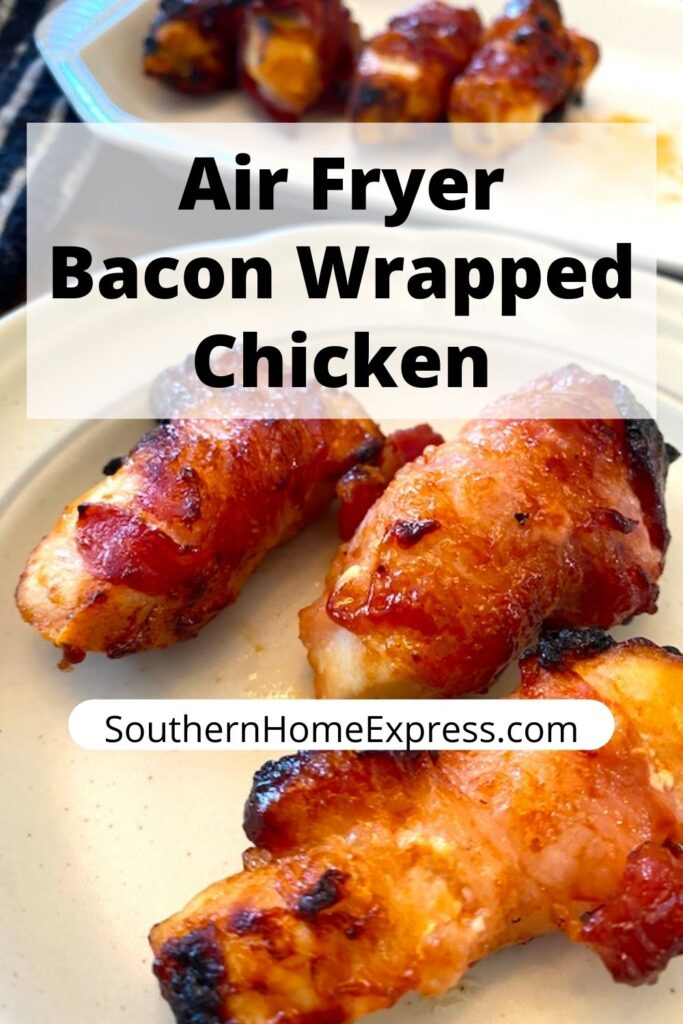 platter of chicken tenders wrapped in bacon.