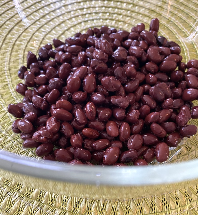 black beans in a mixing bowl