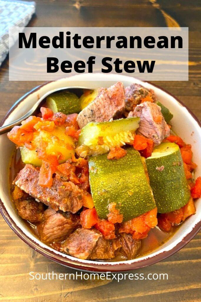 bowl of Mediterranean beef stew