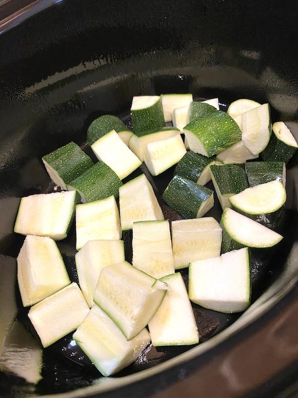 zucchini in the pot
