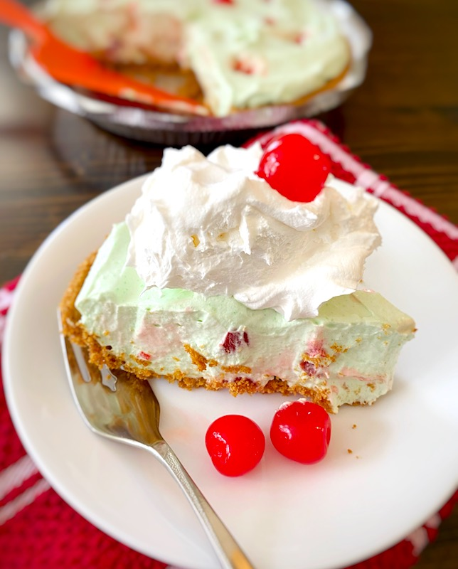 creamy no-bake cherry lime pie