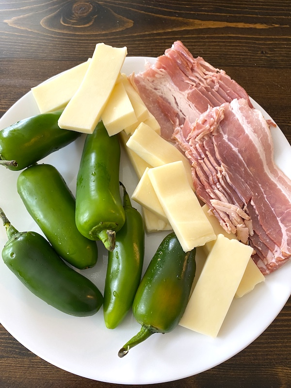 jalapeno peppers, cheese, and bacon