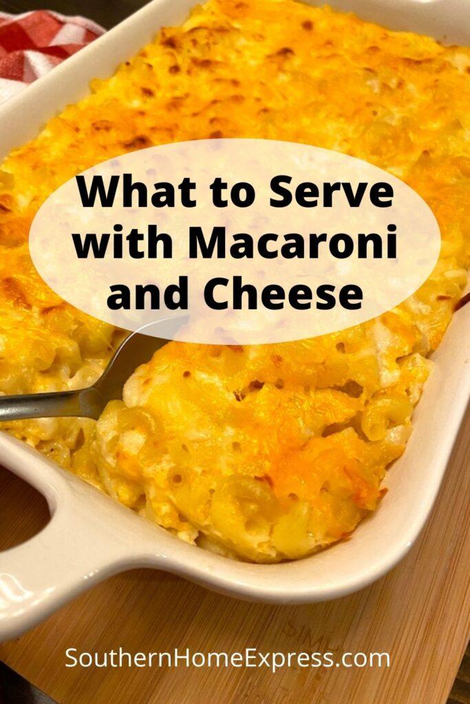 pan of mac and cheese