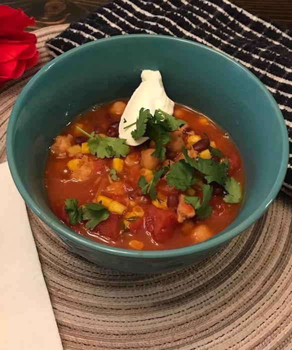 taco soup with cilantro