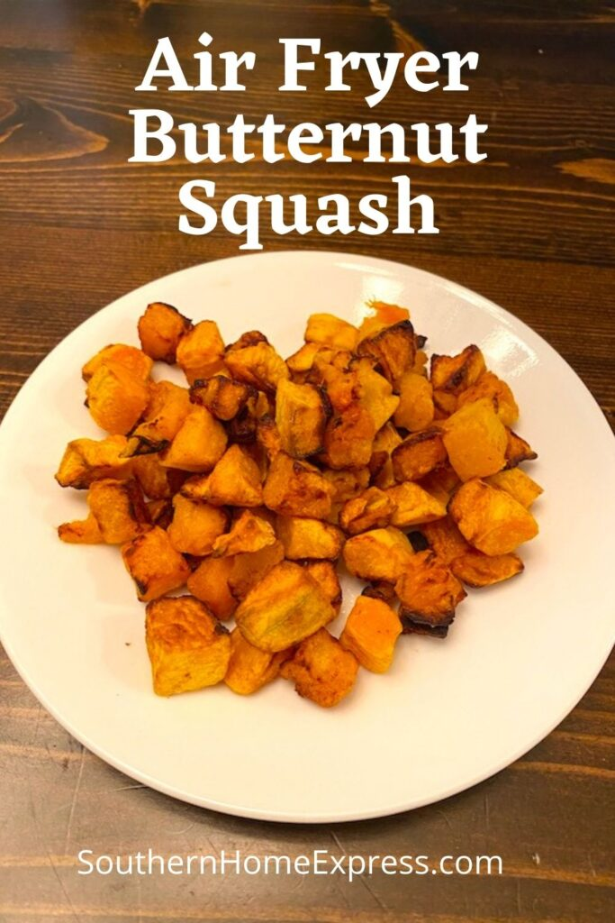 plate of air fried butternut squash