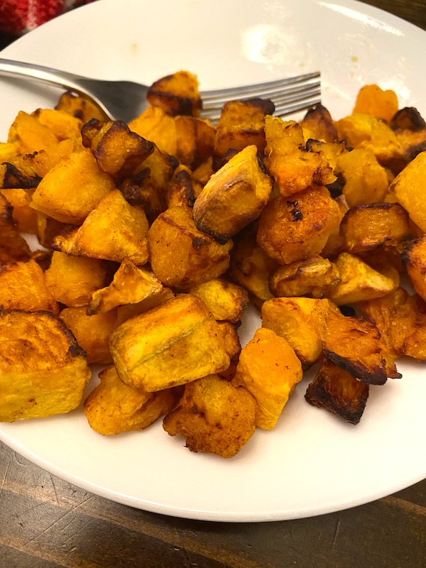 plate of cooked squash