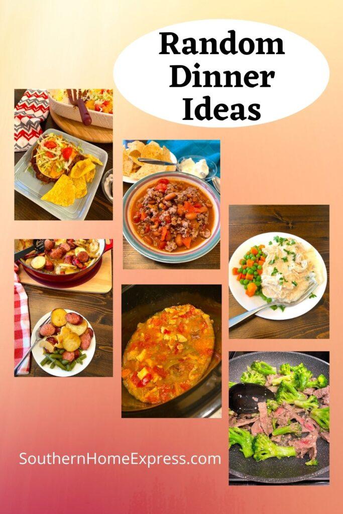 variety of meals for random dinner ideas